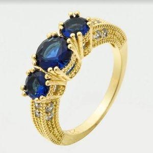 14k blue sapphire women ring